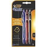 BIC Gel-ocity Quick Dry Bolígrafos Tinta en Gel Punta Media (0,7 mm) - Colores Surtidos, Blíster de 3 Unidades - Bolígrafo retráctil con tinta de secado ultrarrápido