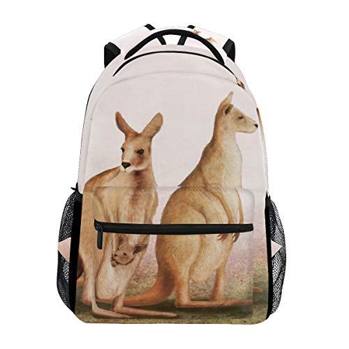 Eslifey - Mochila con diseño de Familia de canguros, para Estudiantes