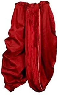 Indian Cultural Red silk Stitched Dhoti with broad border