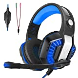 Auriculares Gaming, LATEC Estéreo PS4 Cancelación De Ruido Gaming Headset para PC, Controlador de...