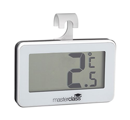 Kitchen Craft Koelkast-thermometer Master Class digital-19 tot +50 °C, mengsel van meerdere materialen, zilver, 12 x 17 x 22 cm