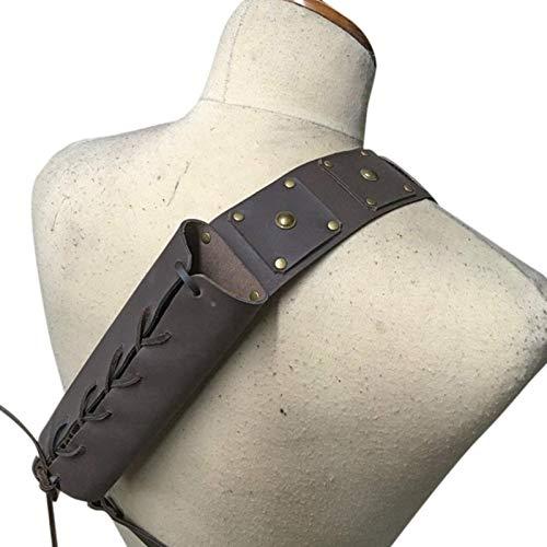 Ulapithi Soporte para estuche de estilo medieval retro con diseo de espada medieval para hombro, espalda y hombro, ajustable, para disfraz de guerrero