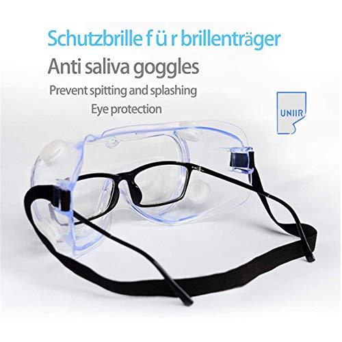 Glazen antivirusprogramma's, bril, anti-spugen spuiten, contactlenzen, stof-proof, ademend, multifunctionele Draag een veiligheidsbril, veiligheidsbril anti Droplets