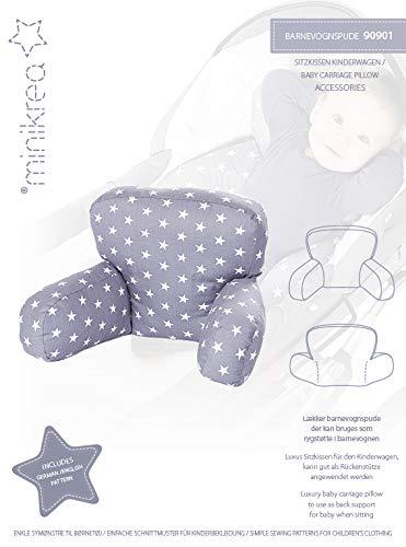MAGAM-Stoffe Papier-Schnittmuster Baby Sitz Kissen für den Kinderwagen, Babydecke, Schnuffeltiere und Greiflinge inkl. Aufnäher Enno