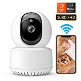DADYPET Camera Wireless 1080P FHD WiFi IP Indoor Camera with Night Vision Motion