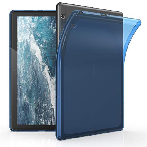 kwmobile Hulle kompatibel mit Huawei MediaPad T5 10 Silikon Tablet Cover Case Schutzhulle Blau
