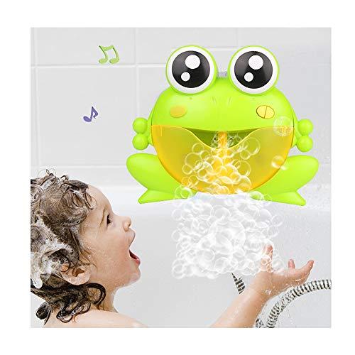 Bad Blasen Maschine für Kinder, automatische Frosch Blase Gebläse tragbare 30 Musik Song Spielzeug für Baby Ideal Geburtstag Spielzeug für Kinder,B
