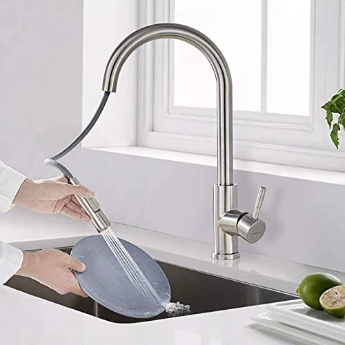 YSNJG Wasserhahn Küche Ausziehbar...