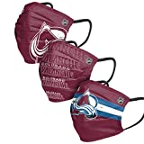 Colorado Avalanche NHL Mens Matchday Face Cover - Adult - 3 Pack