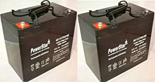 12V 55AH Pride Mobility Jazzy 600, 600 XL, 614, 614HD Battery - 2 Pack