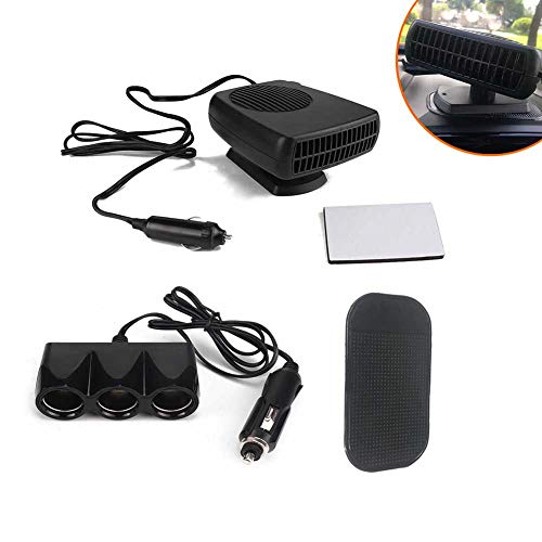 Sale!! Alician 3pcs/Set 12V/24V DC Car Auto Portable Electric Heater Heating Cooling Fan Defroster D...