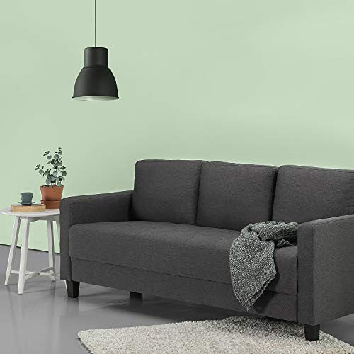 ZINUS Sunny Sofa Couch / Easy, Tool-Free Assembly, Steel Grey