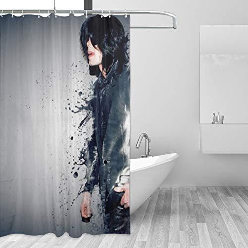 BLACKbiubiubiu Michael Jackson 152 x 183 cm Bedruckter Duschvorhang Badezimmer Wasserdichter Vorhang
