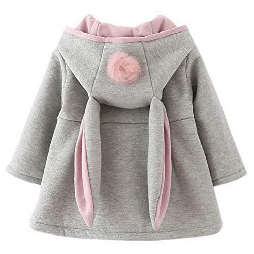 Odziezet Baby Mädchen Mäntel aus Baumwolle Frühlung Herbst Winter Jache mit Kapuze Kleinkinder Warm Kleidung