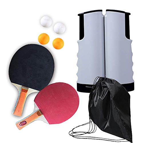 Best Bargain Bocotous Table Tennis Kit Ping Pong Sets Retractable Net Great Gift for Kids Adults Pac...