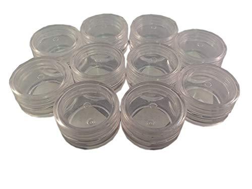 10 pots transparent 5 ml pour le make up et le nail art