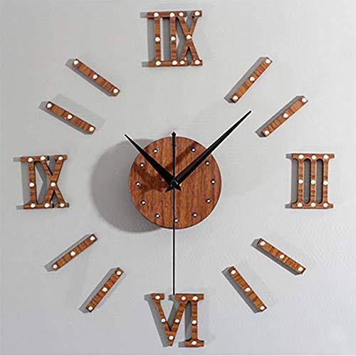 MingXinJia Relojes de Cabecera para el Hogar, Relojes de Pared Aristocráticos Antiguos, Arte de Pared de Humor, Pared de Salón Decorativa, Moda Diy
