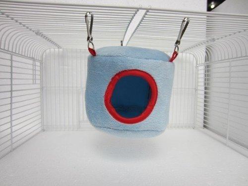 Blauwe hangmatten opknoping bed huis voor ratten vogel hamster fretten papegaai muis speelgoed