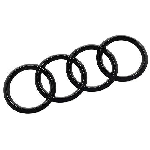 Audi 8W9853742AT94 Zeichen Heckklappe Ringe Black Edition Emblem Blackline Logo schwarz (20.1 x 7.0 cm)