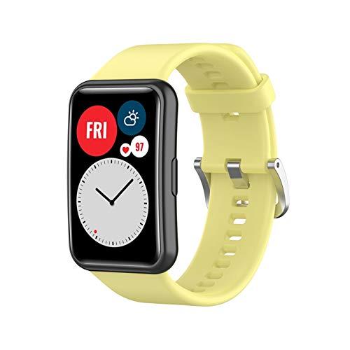CRFYJ Banda del Reloj de la Correa de la Correa de la muñeca de Silicona de reemplazo para -Huawei WATCK FIT Smart WATCK 1.64'Vivid AMOLED Pantalla de la Pantalla de la Pantalla (Band Color : Y)