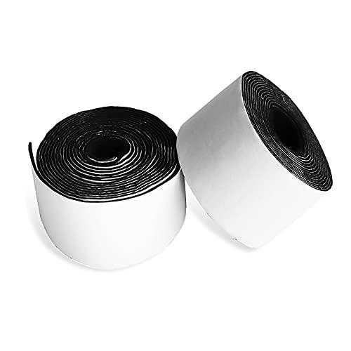 Perzomido 2パック 粘着フェルトテープ 高耐久フェルトストリップロール ポリエステルフェルトテープ 合計2インチ x 0.04インチ x 20フィート ブラックフェルトテープ 家具用 DIYクラフトや植木鉢に最適