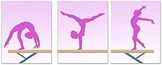 Girls Gymnastics Beam Pink Wall Art Prints - Set of 3 (8x10) Poster Photos - Bedroom - Studio - Gymnast