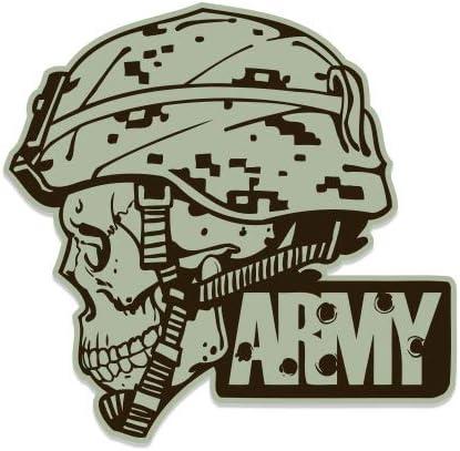 GT Popular products Graphics New item Army Helmet Skull Sticker - Vinyl Waterproo Military