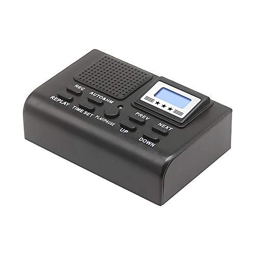 Grabadora de llamadas telefónicas fijas, caja de grabadora de voz de llamada telefónica fija automáticamente con pantalla LCD, almacenamiento local, reproducción