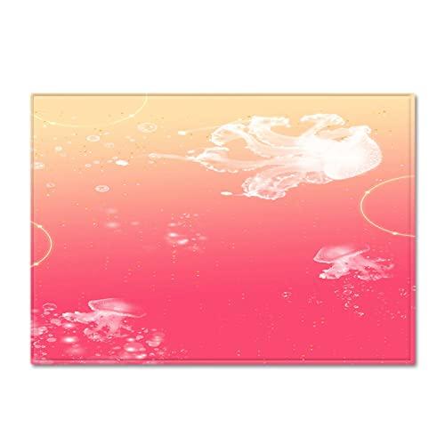 NHhuai Alfombra Antideslizante Muy Suave, Lavable, al Aire Libre Interior Alfombra Grande con gradiente de Flujo de Agua