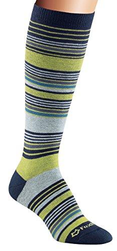 Fox River Damen Simply Stripe Ultra Lightweight Knee High Socks Navy Large
