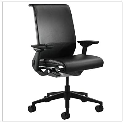Steelcase Think Chair(R) - Leather, color = Black