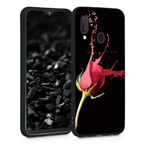 ZhuoFan Funda Samsung Galaxy A20e Cárcasa Silicona Ultrafina Negra con Dibujos Diseño Suave TPU Gel Antigolpes de Protector Piel Case Cover Bumper Fundas para Movil Samsung A20e, Rosa
