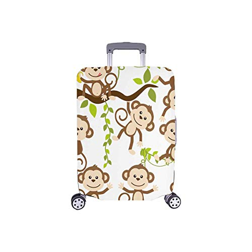 InterestPrint Cute Cartoon Monkey Art Travel Luggage Cover Suitcase Baggage Case Fits 18'-21' Luggage