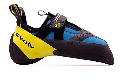 Evolv X1 Climbing Shoe Seafoam/Neon Yellow, 7.0