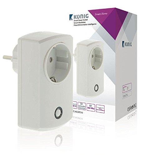 König SAS-CLALSPE10 Smart-stopcontact voor SAS-CLALARM10, wit