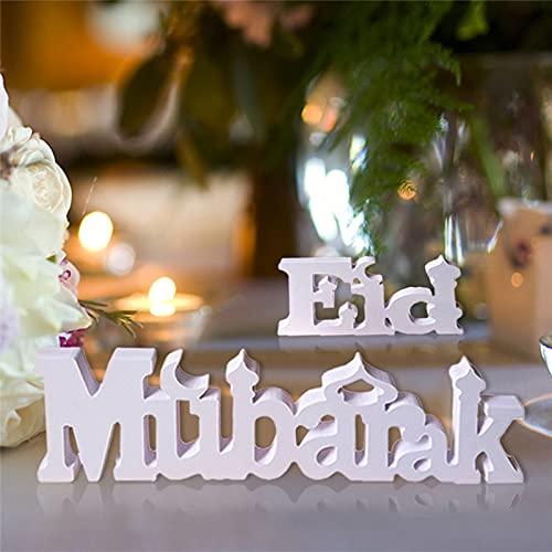 surfsexy Eid Mubarak - Adorno para mesa de comedor con temática de Ramadán, decoración para fiestas en el hogar