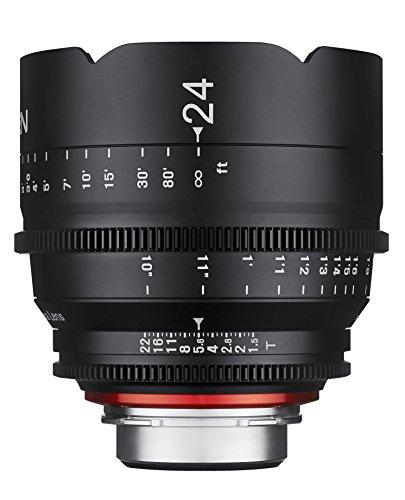 Rokinon Xeen XN24-C 24mm T1.5 Professional CINE Lens for Canon EF,Black