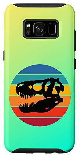 Galaxy S8 Rainbow Sunset Dinosaur Skull Silhouette Cute Retro Case