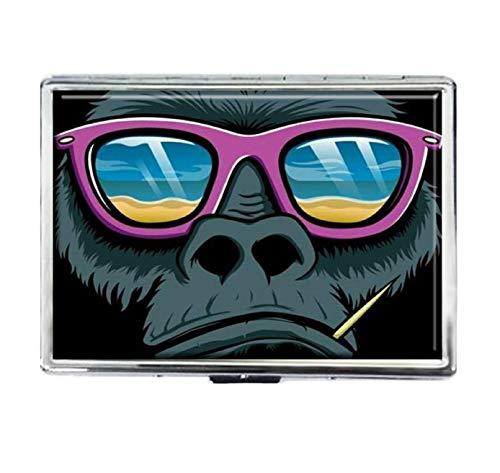Cool Gorilla Étui à Cigarettes Tendance en Acier Inoxydable argenté pour Lunettes de Soleil