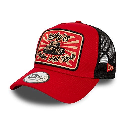 New Era Hot Rod A-Frame Adjustable Trucker Cap - Car Edition - Red/Black - One-Size