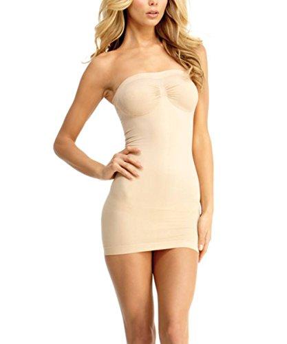 SlimMe Liberina Strapless Control Slip Shaper - Classy Shapewear Nude Shapewear X Large