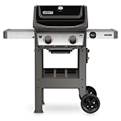"Your purchase includes One Weber Spirit II E-210 2-Burner Liquid Propane Grill in Black color Grill dimensions: Lid Open - 57""H x 48""W x 26""D. Lid Closed - 44.5""H x 48""W x 27""D. Each cooking grate is 10.16"" x 17.5"", for a combined measurement of appr..."