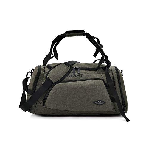 Sebasti Bolso de mano de poliéster impermeable, bolso de viaje, multifuncional, bolso de deporte, bolso de mano, color verde, verde (Verde) - QYLCLRNCEU