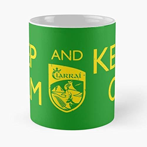 Eire Ireland County Keep 脡ire Kerry Carry On Calm Taza de café con Leche 11 oz