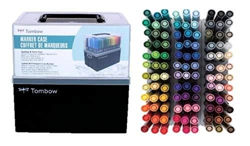 トンボ鉛筆 水性マーカー ABT全108色+ABT全108色用キャリングケースセット NB-UPABT108C+CASE 2種2個組み