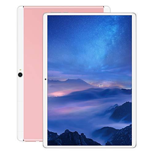 QCBC Tablet 10 Pulgadas Android 8.0 3G Tableta Ultra-Fáx Wi-Fi 16GB, Duración de la batería Larga, Resistente a los arañazos,Rosado