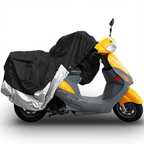 North East Harbor MC-BLA-S-M Storage Covers (Universal Scooter Moped Cover Bikes Weatherproof 80' Length Black & Silver)