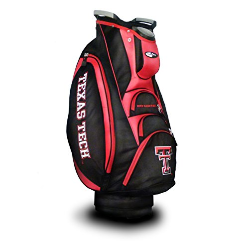 %17 OFF! Team Golf NCAA Texas Tech Red Raiders Victory Golf Cart Bag, 10-way Top with Integrated Dua...