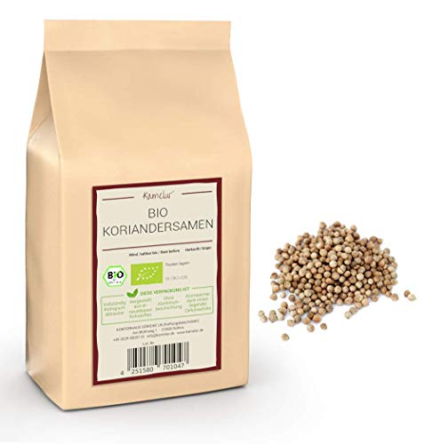 250g BIO Koriandersamen ganz - aromatische Koriander Samen ohne Zusätze – Koriandersamen BIO in biologisch abbaubarer Verpackung
