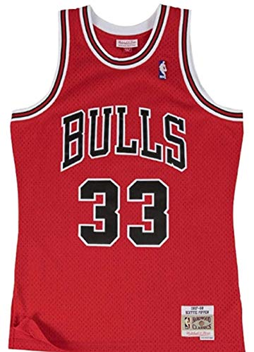 Mitchell & Ness Chicago Bulls Scottie Pippen 1997 Road Swingman Jersey (Large)